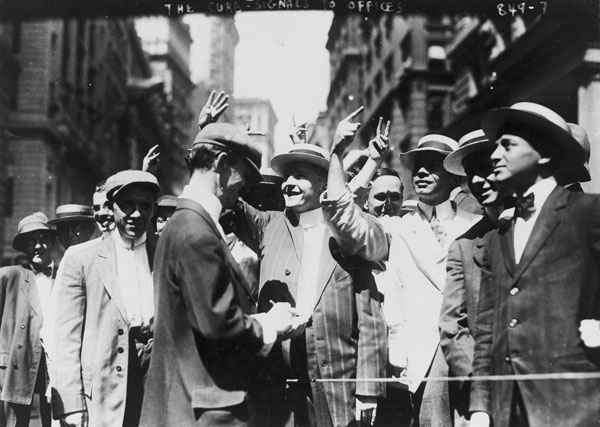 Curb Traders - New York - 1916