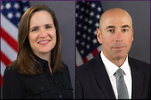 Official Portraits of Stephanie Avakian and Steven Peikin